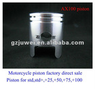 High quality motorcycle piston for CG125,CG150,CG200,AX100,GY6-60,GY6-80,GY6-125,GY6-150,JOG50,WAVE125,BAJAJ