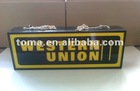 Indoor sign for Western Union