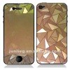 for iPhone 4S Color Plated Screen Protector- Triangle design