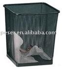 mesh wire basket trash bin