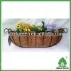 metal wall hanging basket,trough Wire wall basket
