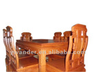 classic rectangle solid wood dining table and chairs