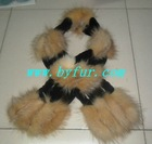 FY-WB013New Fashion Ladies' Knitted Rabbit Fur Shawl,New rabbit shear pin, mixed crystal fox scarf