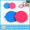 promotional round double side flexible mirror with silicone cover