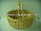 Honey color wicker Christmas basket for gifts