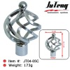 decorative metal curtain pole finials