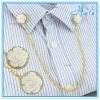 Decorative Cloth Shirt Jewelry Accessories Rhinestone and Metal Collar Chain