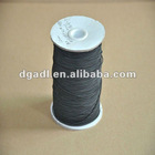 Black elastic drawstring for clothes