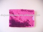 pink sequin business card holder