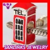 Wholesale Charm Jewelry Silver Plated Telephone Box Alloy Beads Charms