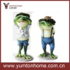 Frog prince and princess metal crafts home decoration set of 2