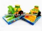 Friction colorful engineering car toy