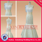 BDM202 real mermaid lace light champagne colored bridesmaid dresses