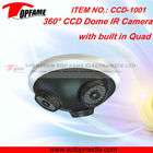 CCD-1001 CCTV camera with QUAD three lens 270 degree wide range view ideal for monitoring entrances, hotel, school, shops, etc.