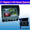 5'' Backup Camera Kit with 4 CH Quad Image Display