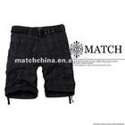 Matchstick wholesale men's 100% cotton plaid cargo shorts S3575