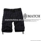 Matchstick wholesale men's 100% cotton plaid cargo shorts S3575