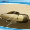 Auto wrapping decoration gold 3D carbon fiber vinyl film 1.27x30m