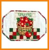 stock $0.5 printed cheap cotton filling Placemat