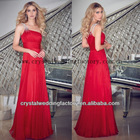 Free shipping one shoulder beaded ruched red custom-made mother of the bride dress CWFam4983