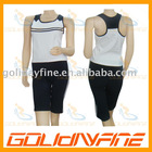 Contrast color inserts ladies fitness wear