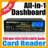 "5.25"" Media PC LCD internal Card Reader w/ Fan Control"