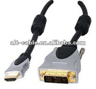 Premium Pearl chrome DVI-D HDMI cable