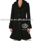 Women's woolen woven coat