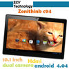 New arrival !!! 10.1 inch 1024x600 Pixels RAM 8GB Dual Camera 2MP Zenithink C94 Quad Core Tablet PC