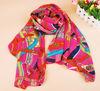 lady chiffon print scarf W006