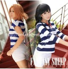 FANTASY SHEEP fashion high quality Japanese K-on cosplay t shirts+pants 100% cotton 3 size