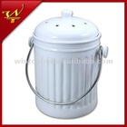 1.0 Gallon Ceramic Compost Pail