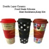 Decal Porcelain Coffee Mug With Silicone Lid