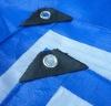 blue-white tarp