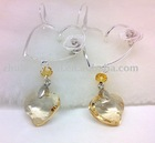 heart shaped crystal earrings