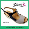 Mature women sandals wedge heel