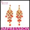 Ruby And Diamond Earrings Beaded Earrings