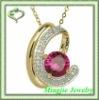noble 2012 fashion gemstone design white zircon necklace