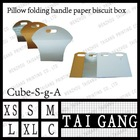 pillow folding handle paper biscuit box