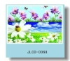 3D lenticular flower design pp coaster set