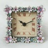 pewter frame clock