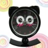 Creative pocket black metal swing clock