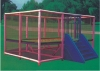 kids mini square trampoline with safety enclosure