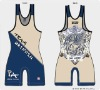 HOT!!!Sublimation Printing Customize Men's High-Cut Wrestling Singlets(Sample Je-W00927)