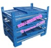 Foldable and Stackable Metal Wire Mesh Container/box for Warehouse Storage