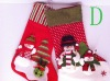 32126 Promotional polyester Christmas decoration Xmas socks New year gift