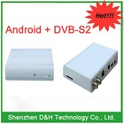 Best new Android 4.0 TV BOX with DVB-S2 TV system, google smart TV BOX, support skype video 3D games