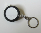 gift mini tyre tape measure with kay chain steel tape ABS cover