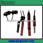 cheap and designed zipper earphones with mic for widely use