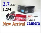 "free shipping discount 2011 New 2.7"" 12.0 MP HD Digital Camera DV in original box"